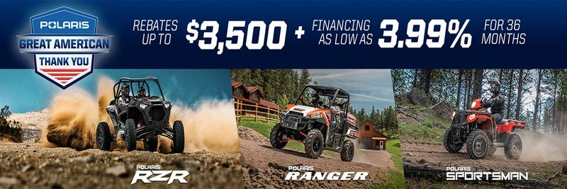 GREAT AMERICAN THANK YOU OFF ROAD OFFERS